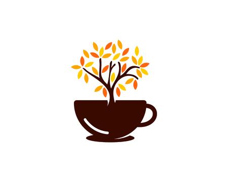 Tree Coffee Logo Icon Design