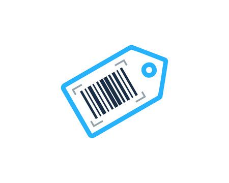 Barcode Tag Logo Icon Design