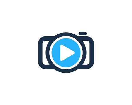 Video Camera Logo Icon Design