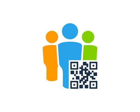 Barcode Group Logo Icon Design Çizim