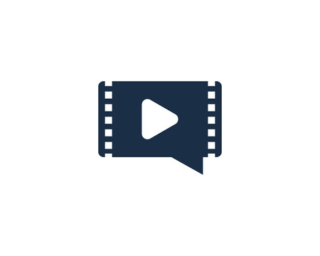 Chat Video Logo Icon Design