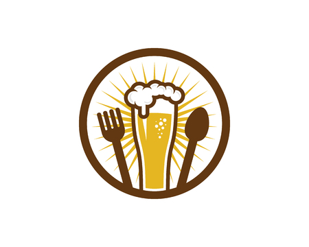 Food Beer Logo Icon Design 스톡 콘텐츠 - 100600735
