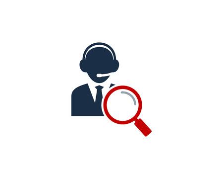 Search Customer Service  Icon Design