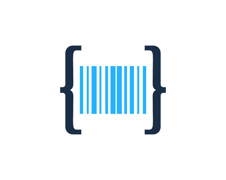 Barcode Code Logo Icon Design