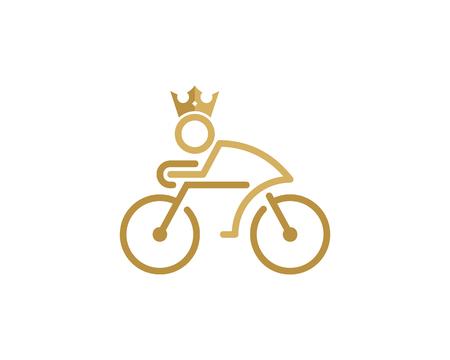 King Bike  Icon Design 일러스트