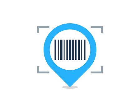 Barcode Pin  Icon Design