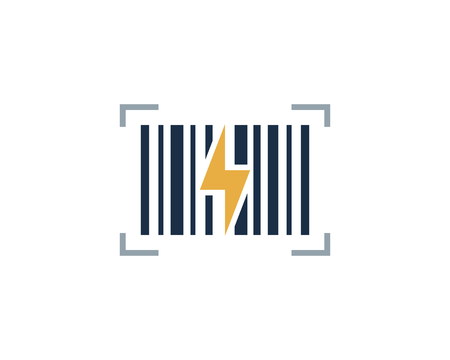 Energy Barcode Logo Icon Design Banque d'images - 100600702