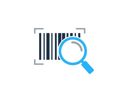 Find Barcode Logo Icon Design Stock Illustratie