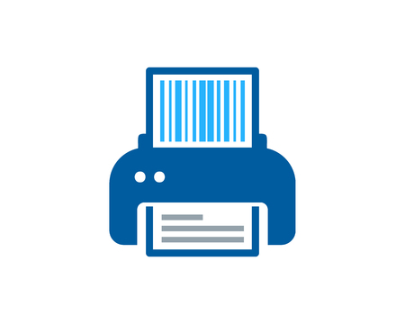 Barcode Print Logo Icon Design 矢量图像