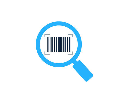 Barcode Find Logo Icon Design
