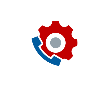 Phone Gear Logo Icon Design