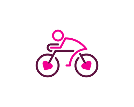 Love Bike Logo Icon Design