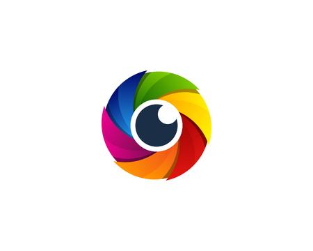 Lens Vision Logo Icon Design