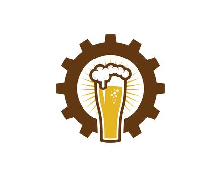 Beer Gear Logo Icon Design