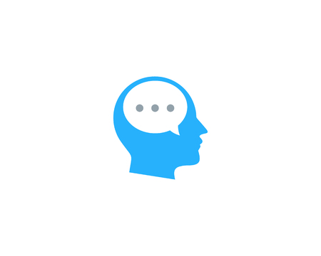 Talk Head Logo Icon Design
