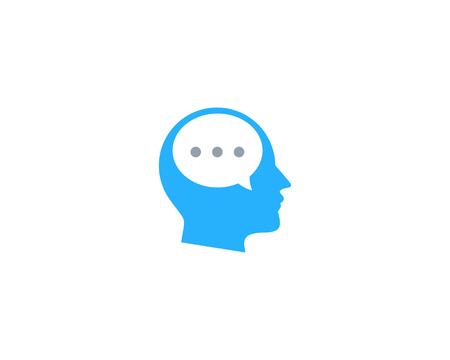 Talk Head Logo Icon Design Stock Vector - 100666881