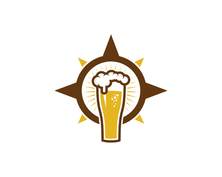 Beer Compass Logo Icon Design