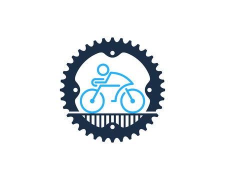 Bike gear Logo Icon Design Illustration