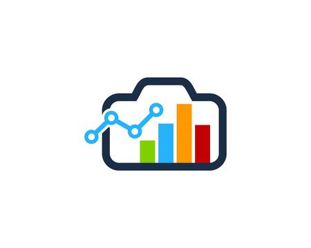 Stats Camera Logo Icon Design
