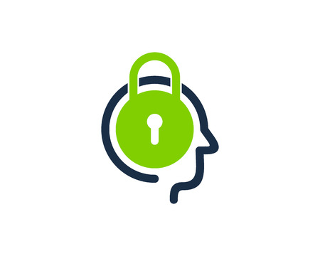 Lock Head Icon Design vector illustration.  イラスト・ベクター素材