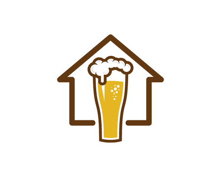 Beer Home Icon Design vector illustration.