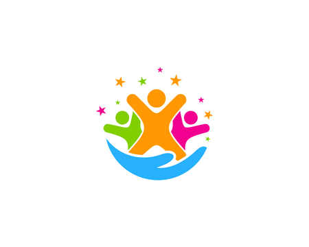 Care Group Logo Icon Design