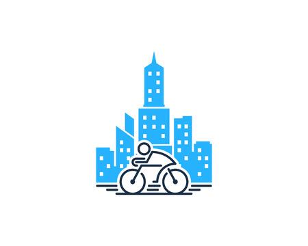 Fiets stad pictogram ontwerp vectorillustratie.