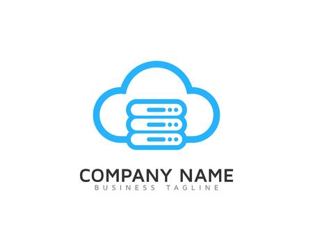 Server Cloud Logo Icon Design