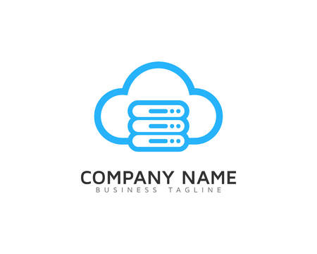 Server Cloud Logo Icon Design