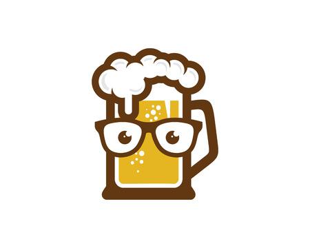 Geek Beer Logo Icon Design Foto de archivo - 100591845