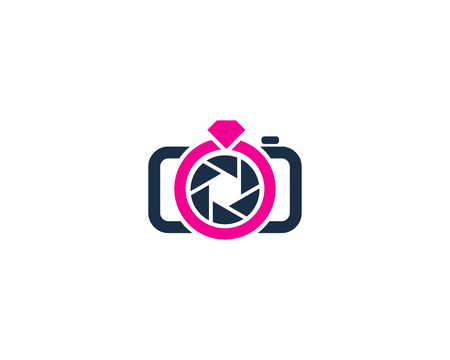 Wedding Camera Logo Icon Design Illustration
