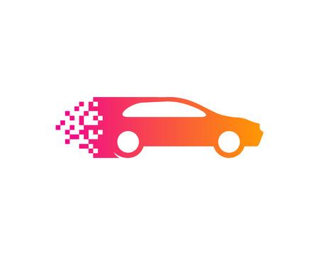 Pixel Automotive Icon Design vector illustration. Illusztráció
