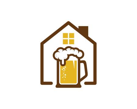 Beer Home Logo Icon Design