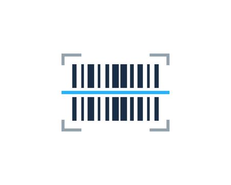 Scansione del codice a barre Logo Icon Design