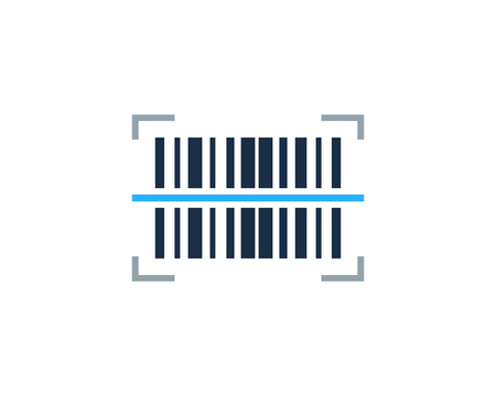 Scanning Barcode Logo Icon Design