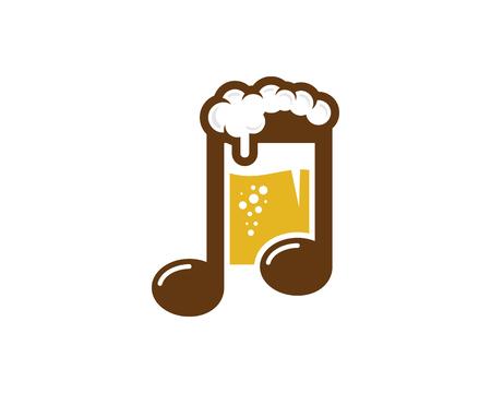 Beer Music Logo Icon Design