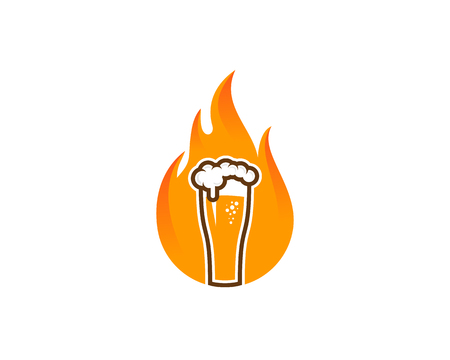 Beer Burn Logo Icon Design