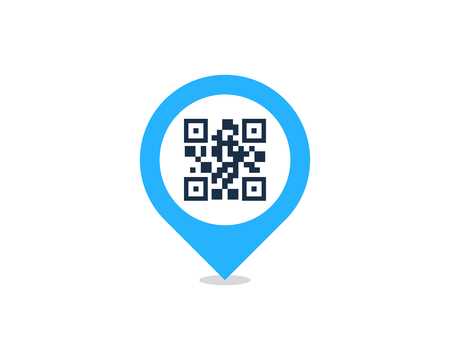 Pin Barcode Logo Icon Design