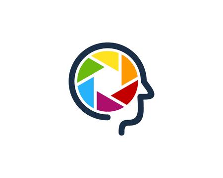 Lens Head Logo Icon Design