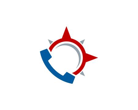 Phone Compass Logo Icon Design