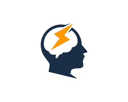 Energy head Logo Icon Design