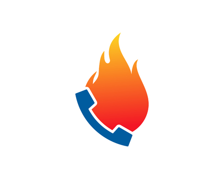 Phone Burn Logo Icon Design