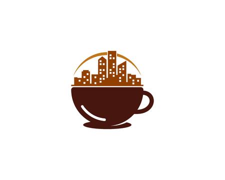 City Drink Logo Icon Design Stock Illustratie