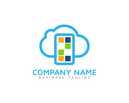 Number Cloud Logo Icon Design