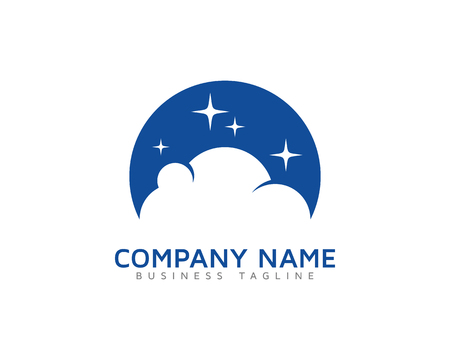 Moon Cloud Logo Icon Design