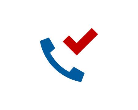 Check Phone Logo Icon Design