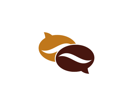 Chat Coffee Logo Icon Design Stok Fotoğraf - 100665639