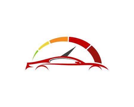 Conception d'icône de logo automobile de vitesse.