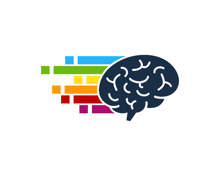 Pixel Brain Logo Icon Design.