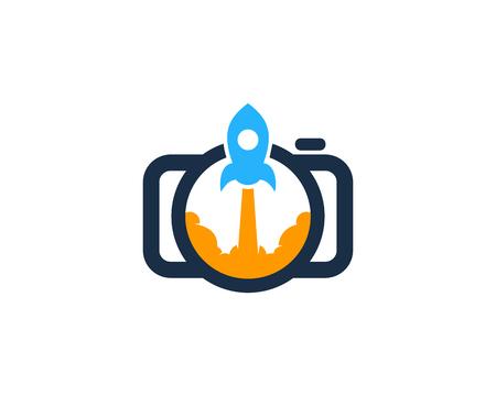 Rocket Camera Logo Icon Design